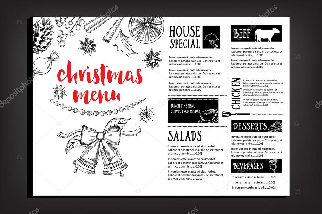 Christmas party invitation restaurant flyer stock vector marchi christmas party invitation restaurant flyer stock vector stopboris Images