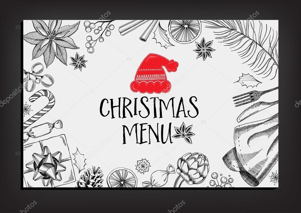 Flyer del restaurante de la invitación de la fiesta de Navidad ...