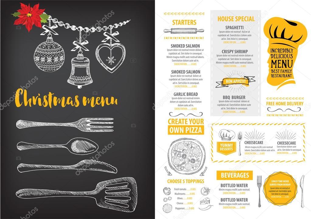Christmas party invitation restaurant flyer stock vector marchi christmas party invitation restaurant flyer stock vector stopboris Image collections