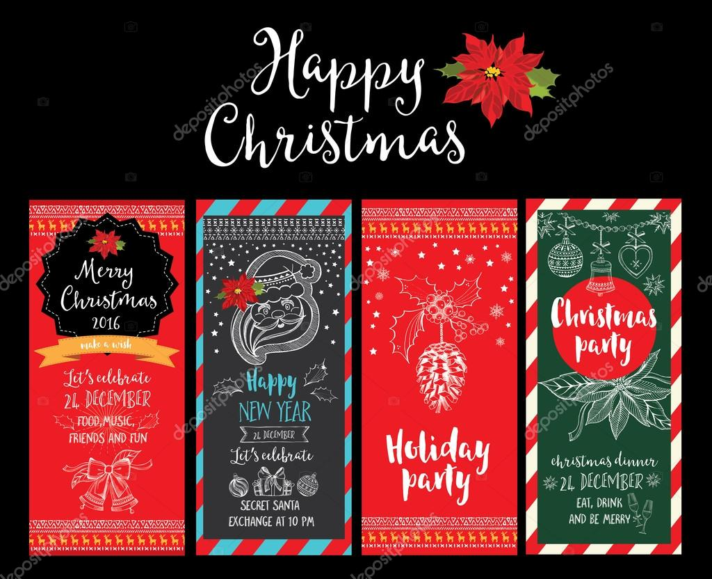 Christmas Party Invitation Holiday Card Stock Vector C Marchi