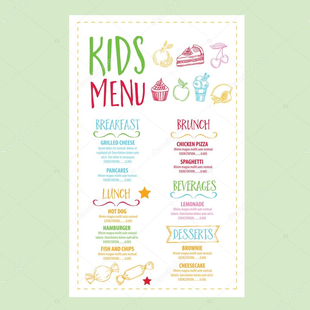 Restaurant Cafe Menu, Template Design. U2014 Stock Vector  Breakfast Menu Template