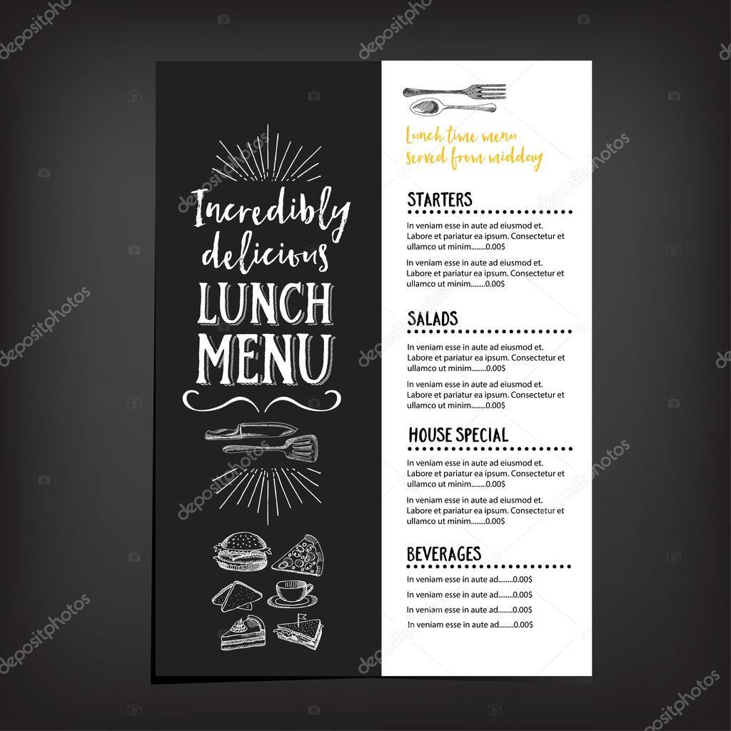 Restaurant cafe menu, template design. — Stock Vector © Marchi #92351798
