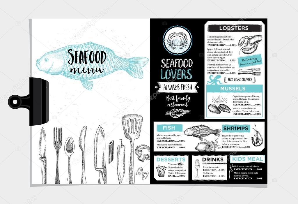 restaurant cafe menu template design stock vector marchi 99539350