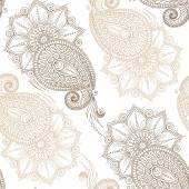 Henna Mehndi tetoválás Doodles Seamless Pattern