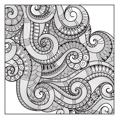 Abstract  Pattern for coloring book.