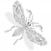 Minta kifestőkönyv. Henna Mehndi tetováló stílus Doodles