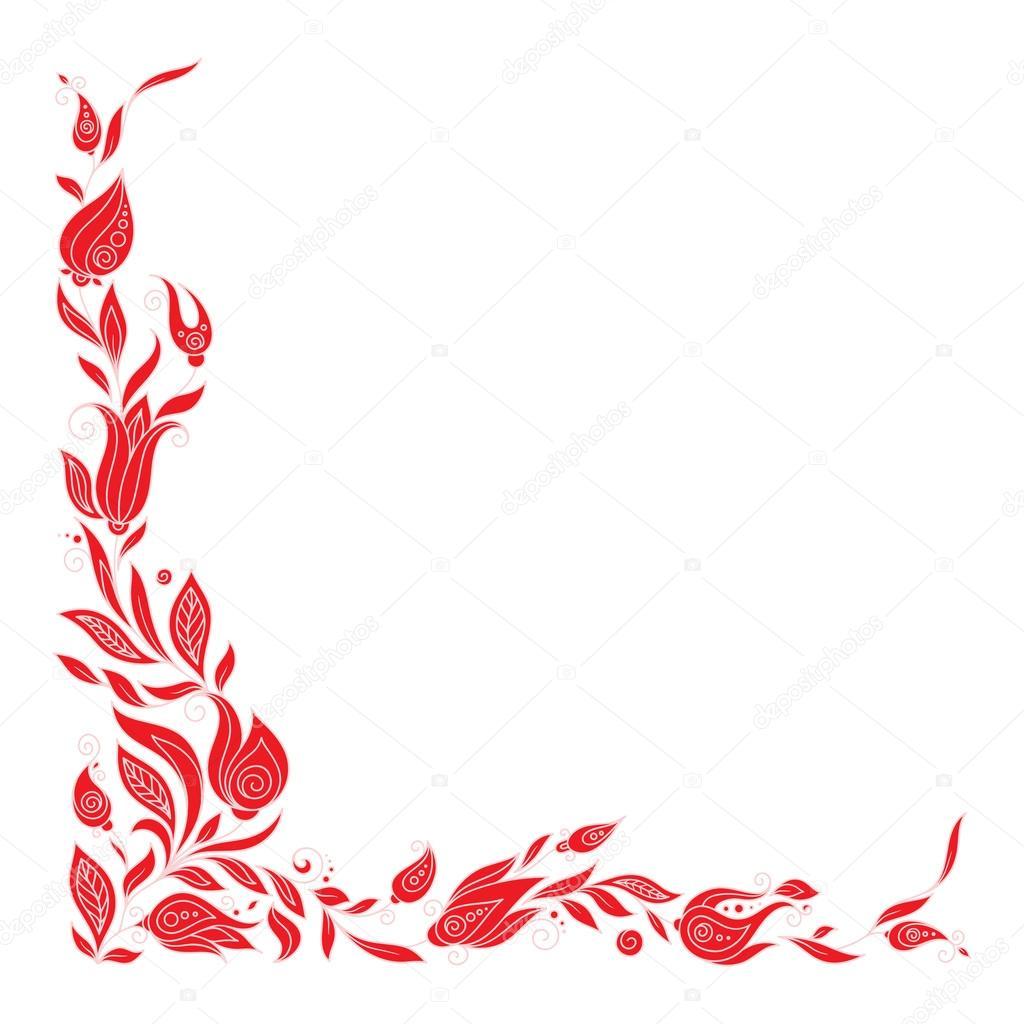 Elementos del marco para el diseño de felicitación. Ilustración ...