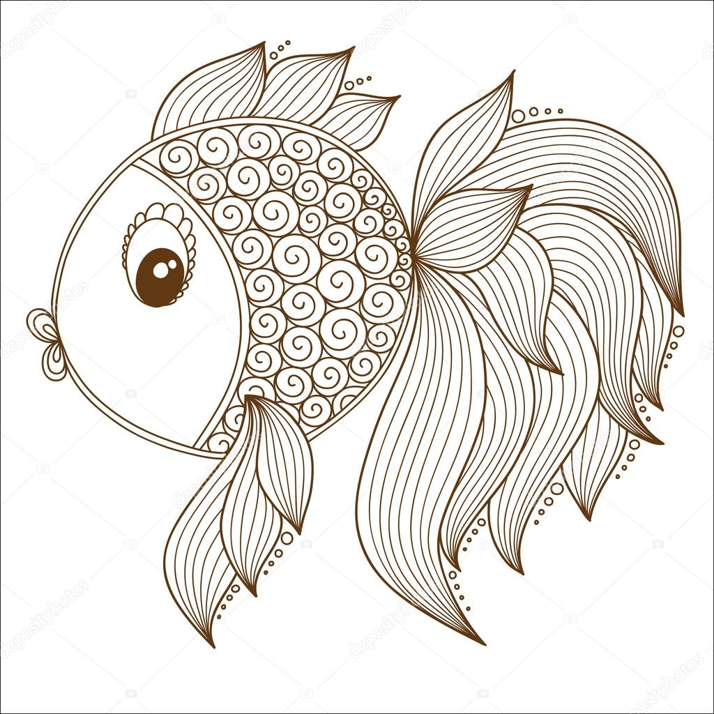 color coloring book for young children colorful doodle fish photo by karpenyuk - Colorful Fish Book