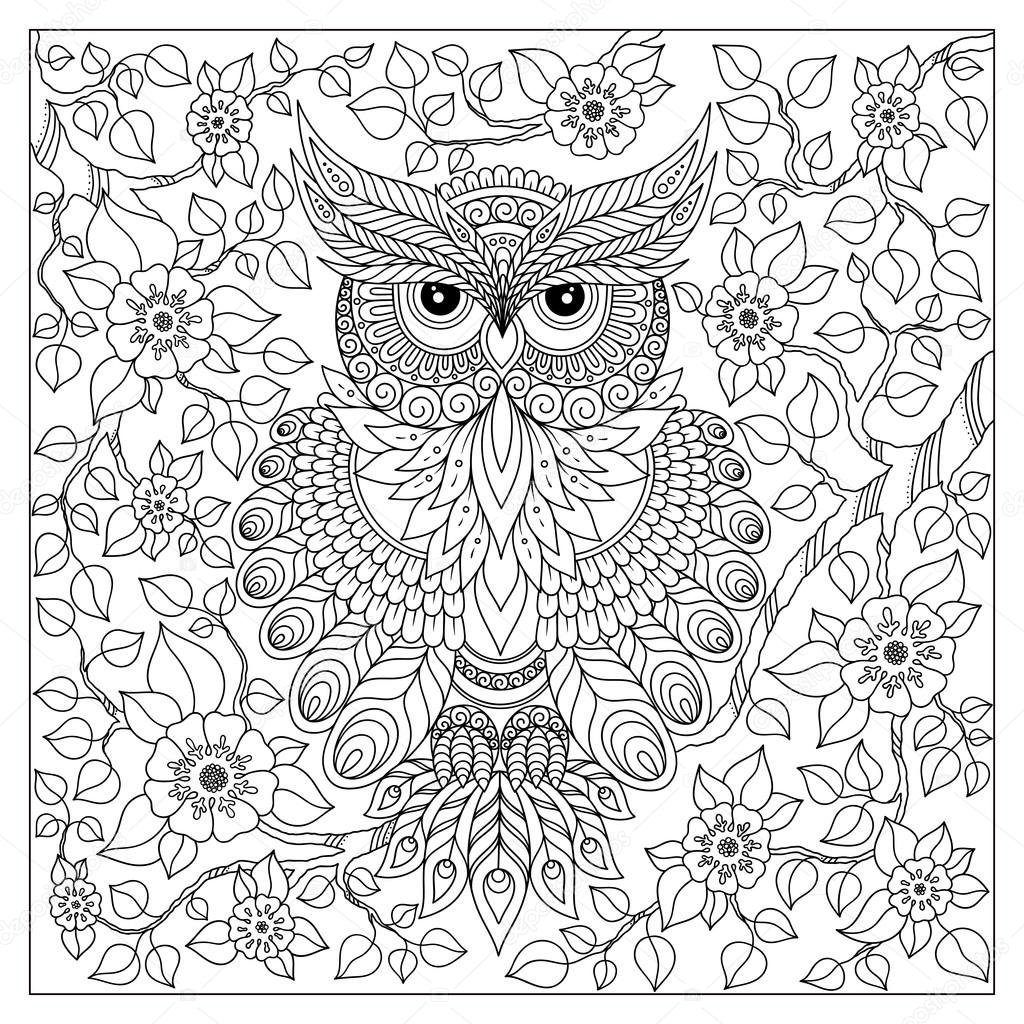 Coloring Book For Adult And Older Children Stock Vector