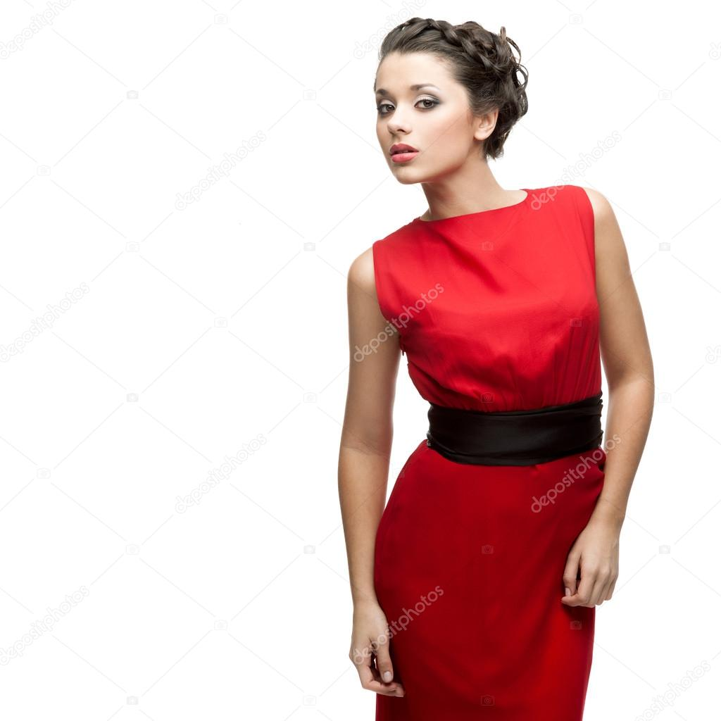 Mooie Rode Jurk.Mooie Vrouw In Rode Jurk Stockfoto C Karpenyuk 51896333