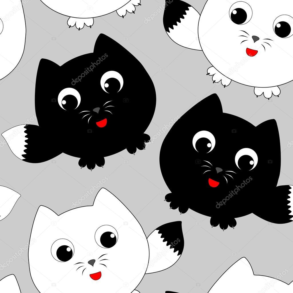 Gatitos Graciosos Dibujos Animados