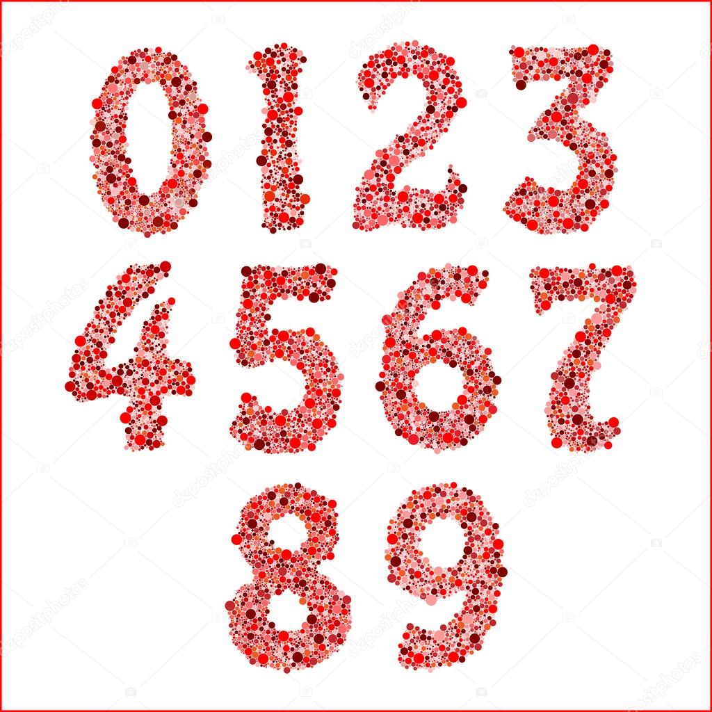 Numbers 1234567890 Letters Numbers Logo Icons Stock Vector ...