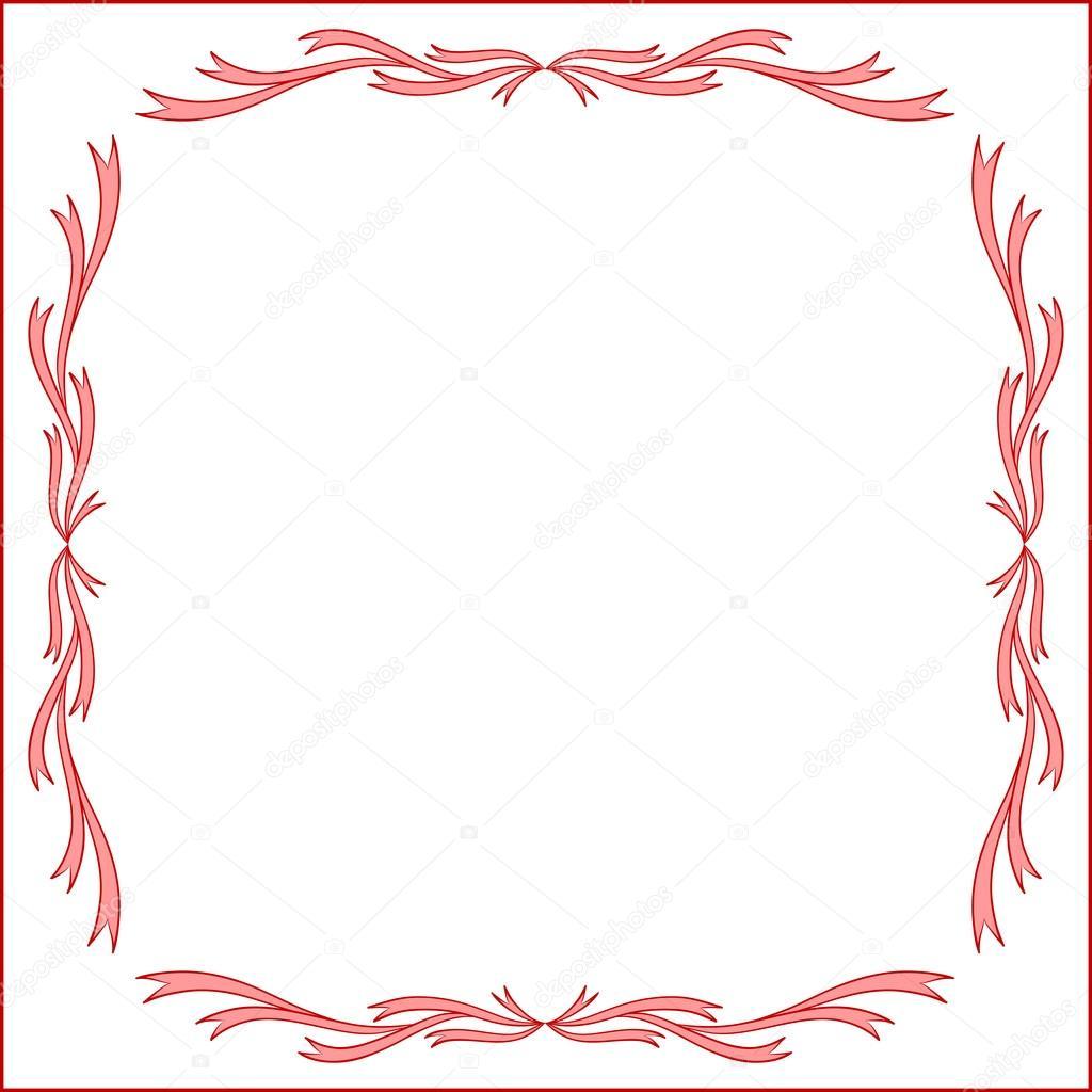 diseño de marco rojo vintage para la tarjeta de felicitación ...