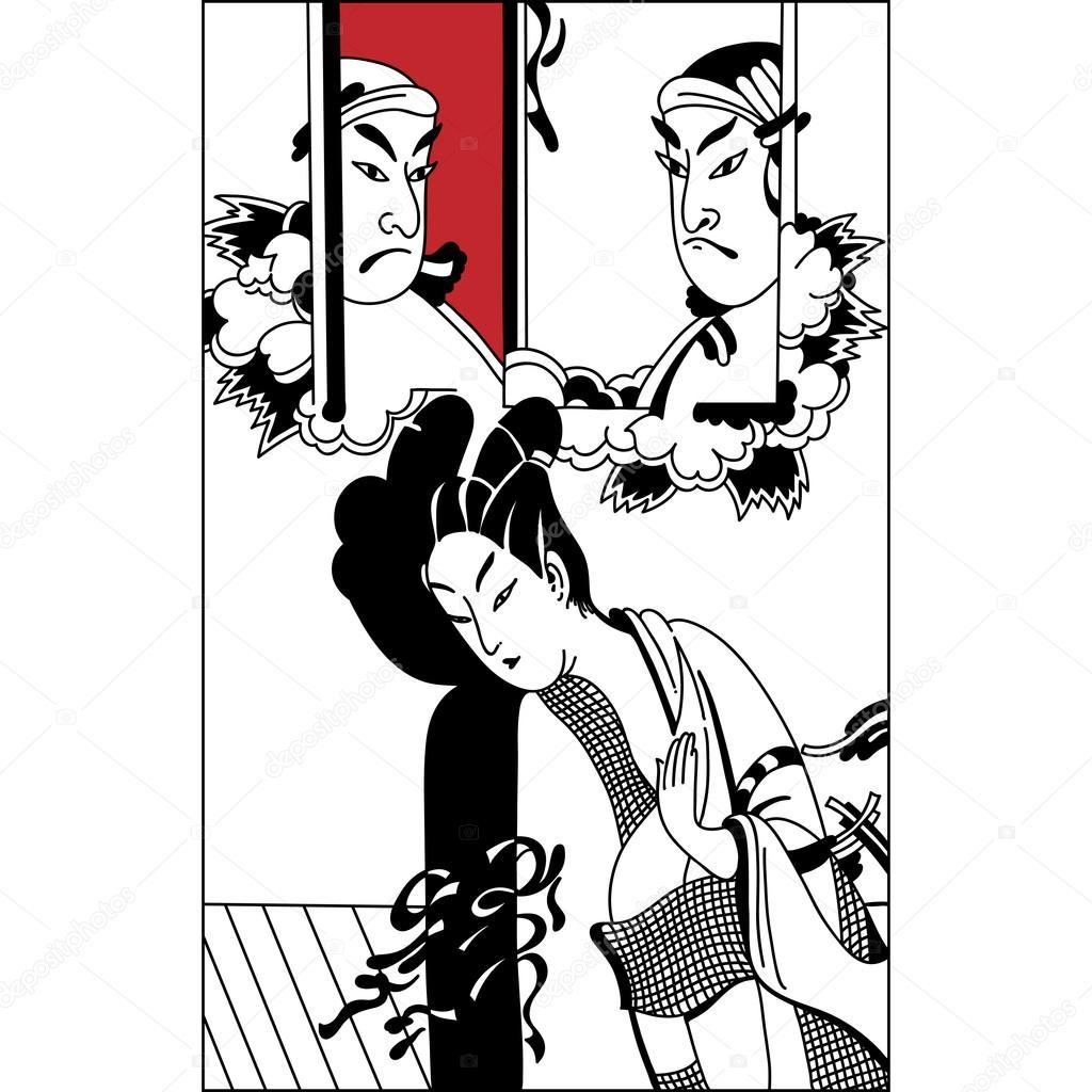 Geisha Art Drawings