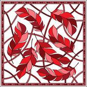 Fotografia Disegno vettoriale con abstract mano pattern di onde disegnate con feathe