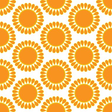 Retro  seamless pattern with suns. Retro seamless patterns set.