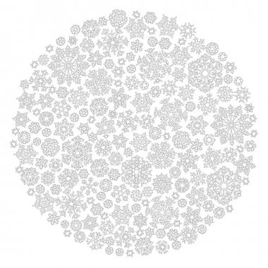 Christmas ball from snowflakes for a card vector. Pattern for co