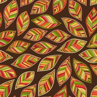 Seamless Autumn leaf pattern.  background. Vector illustration