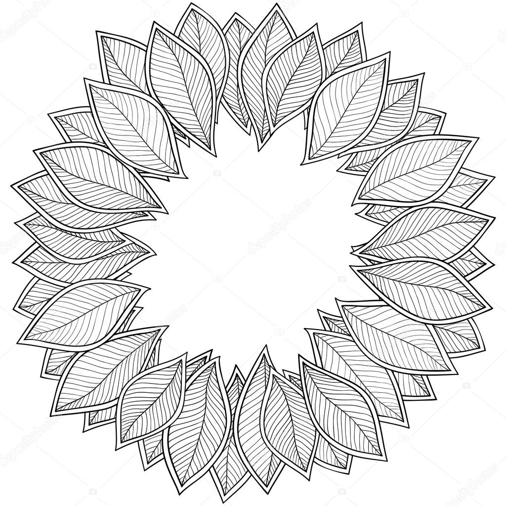 Pattern for coloring book. Leaves. — Stock Vector © karpenyuk #89399488