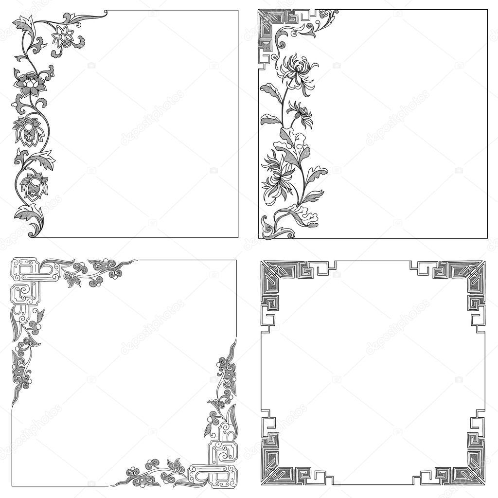 marco de frontera vintage Vector — Archivo Imágenes Vectoriales ...