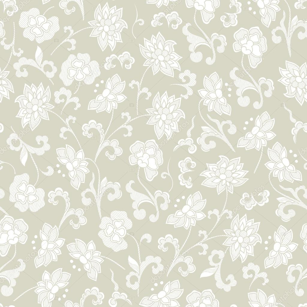 Seamless Vintage Floral Background Stock Vector C Karpenyuk
