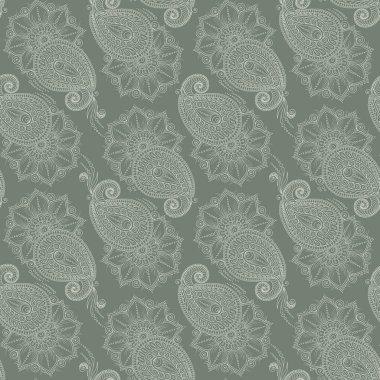 Henna MehendyTattoo Doodles Seamless Pattern