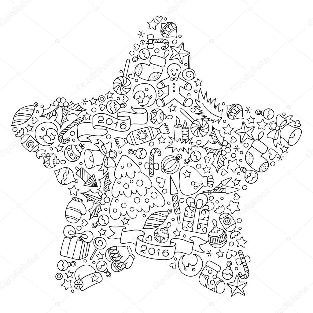 Stella Di Natale Da Colorare.Illustrazione Di Stelle Di Natale Da Stampare Stella Di Natale Da