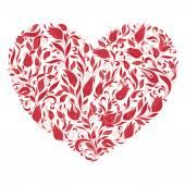 szép sziluett, a szív, virágok csipke