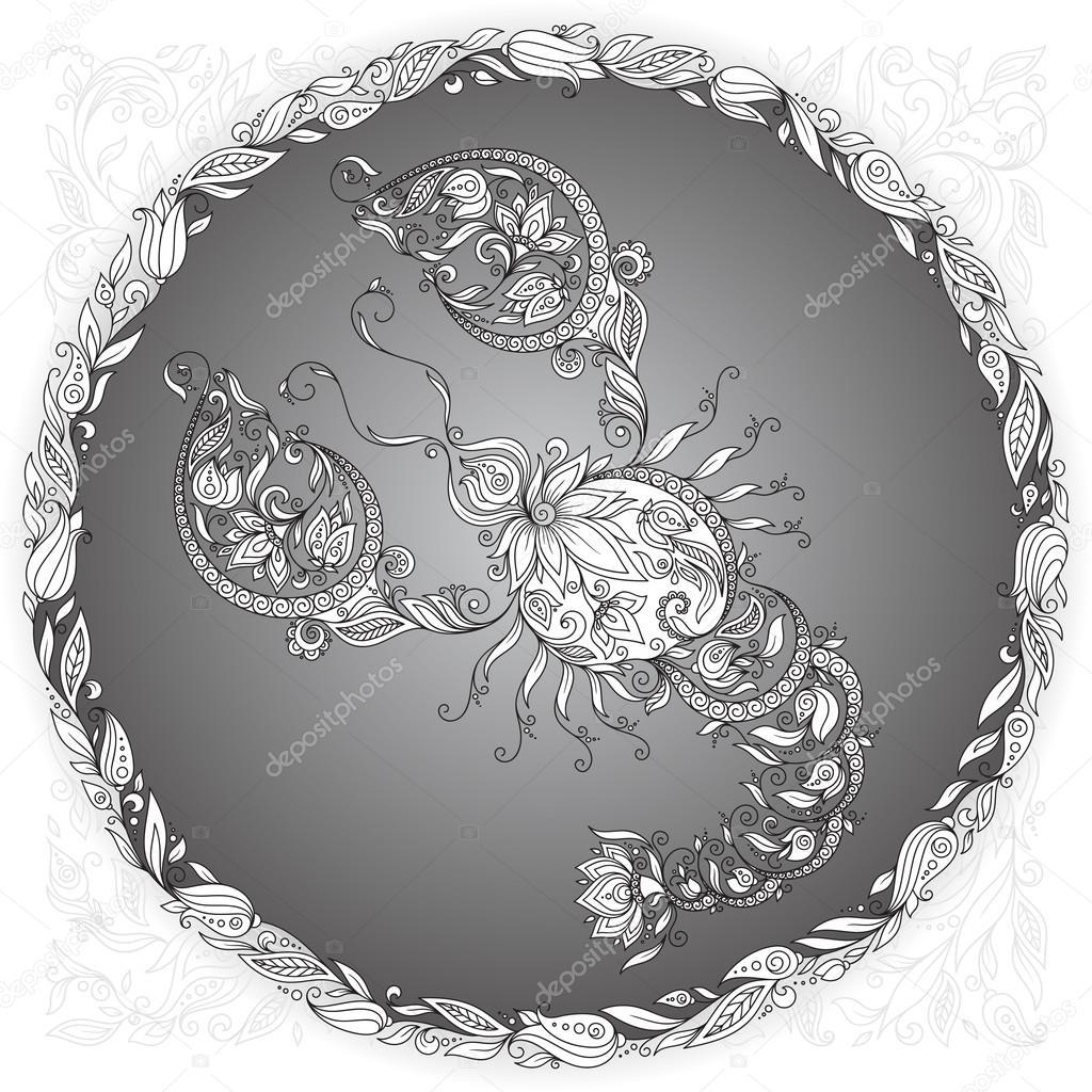 Зодиакальный рак . — Векторное изображение © karpenyuk ...