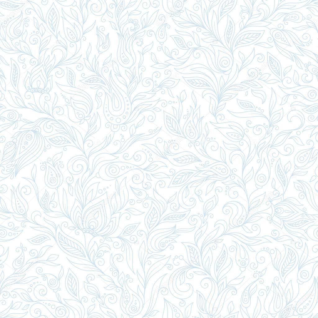 Flores de Paisley diseño elementos de patrones sin fisuras — Vector ...