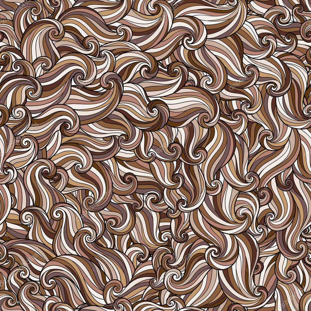 Abstract hand-drawn pattern, waves background.