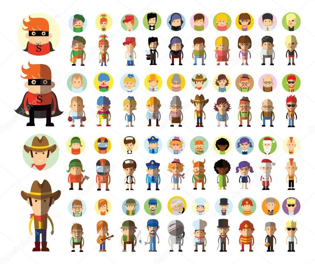 Personagens De Desenhos Animados Profissões