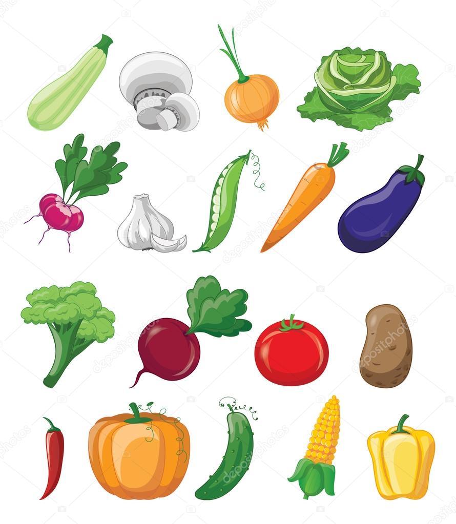 Dibujos Verduras Dibujos Animados De Verduras Maduras