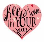 Valentinstag Vintage Schriftzug