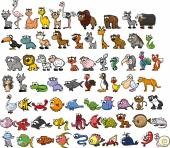 Photo Cute cartoon animals