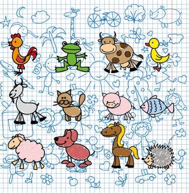 Doodle animals