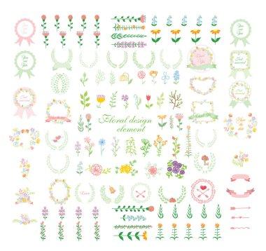 Set of wedding graphic