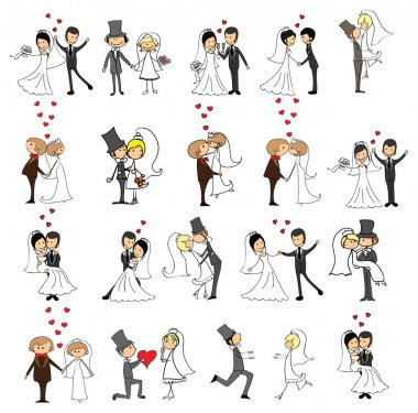 Set of wedding pictures