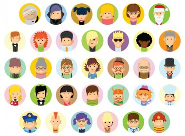 Characters avatar icons