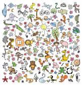 Fotografia Disegni dei bambini di doodle