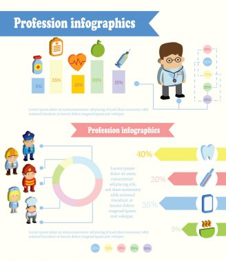 profession Infographic concept