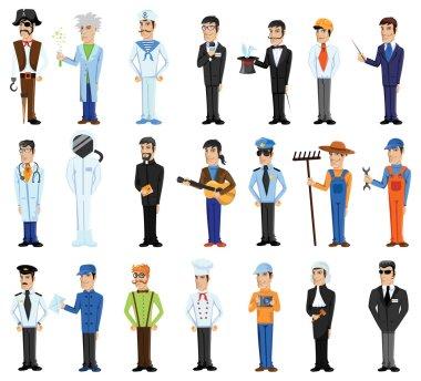 Cartoon professions characters