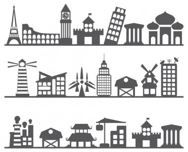 different city icons