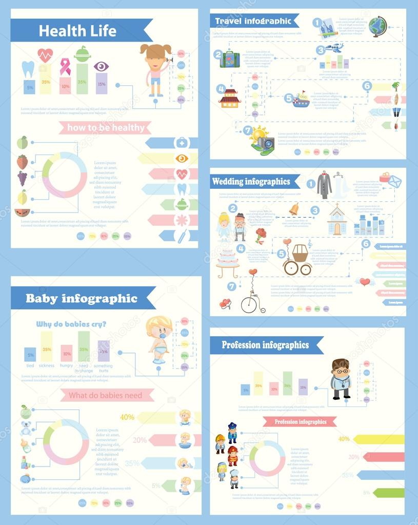 Set of different Infographics