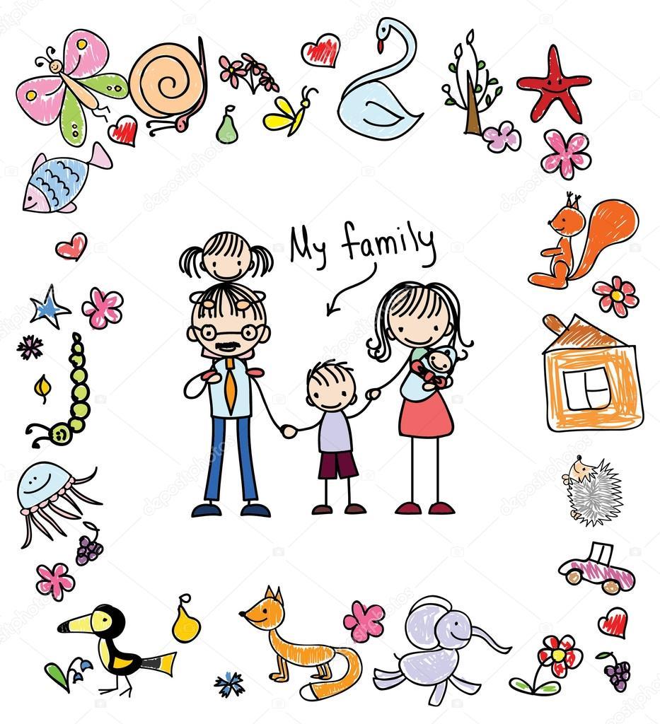 Dibujo De Familia Feliz Para Imprimir Imprimir Familia Feliz