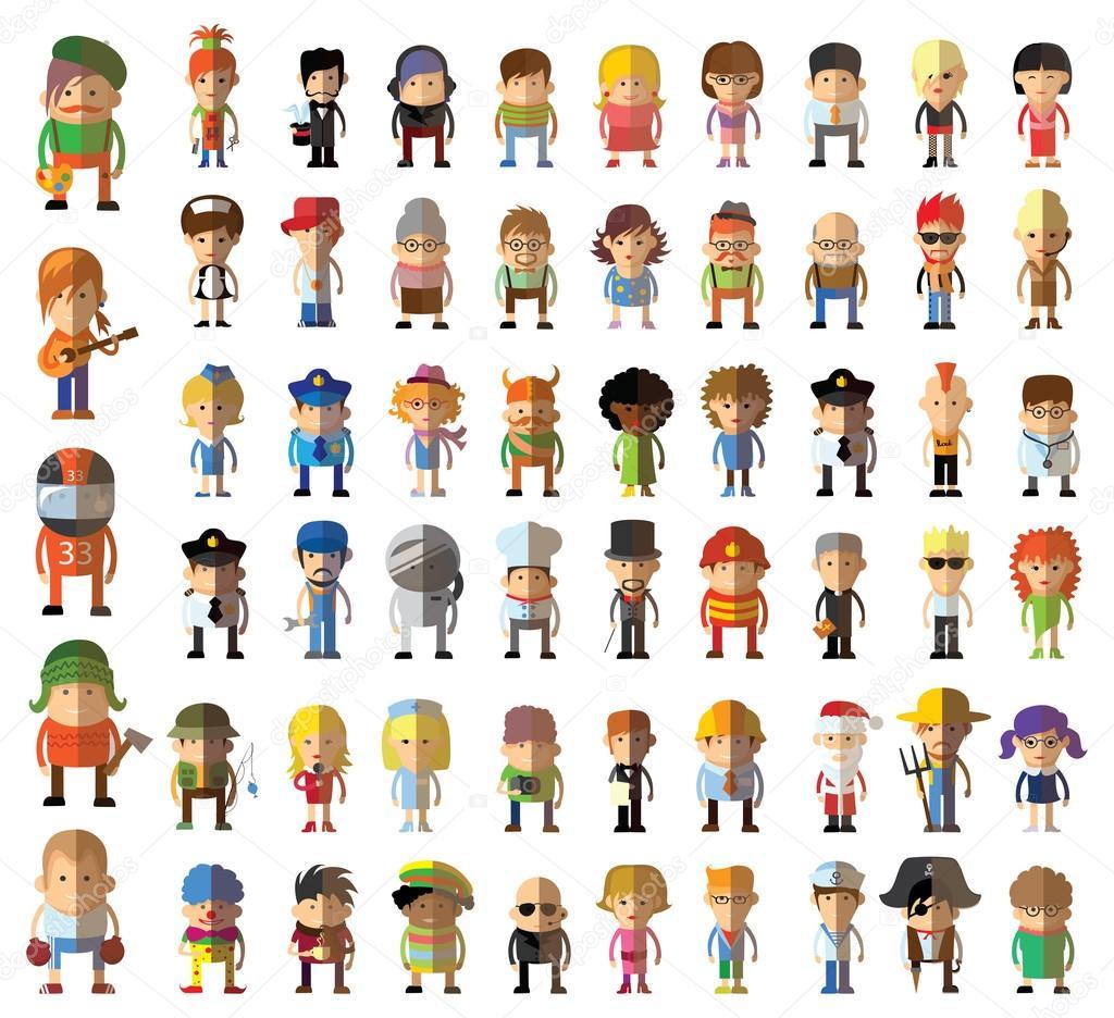 Personajes De Distintas Profesiones