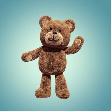 Cute teddy bear toy standing