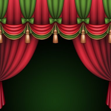 curtains with bows and tassels