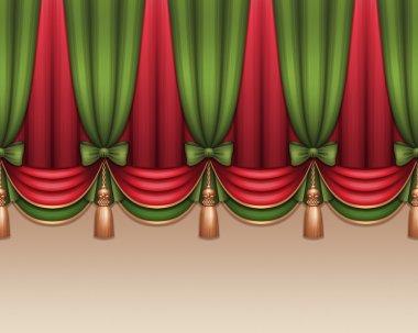 Festive green curtain