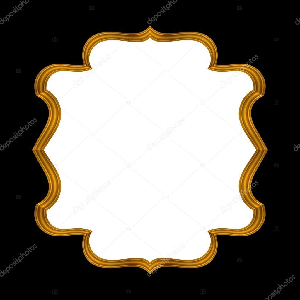 Marco adornado decorativo oro — Fotos de Stock © wacomka #55919317